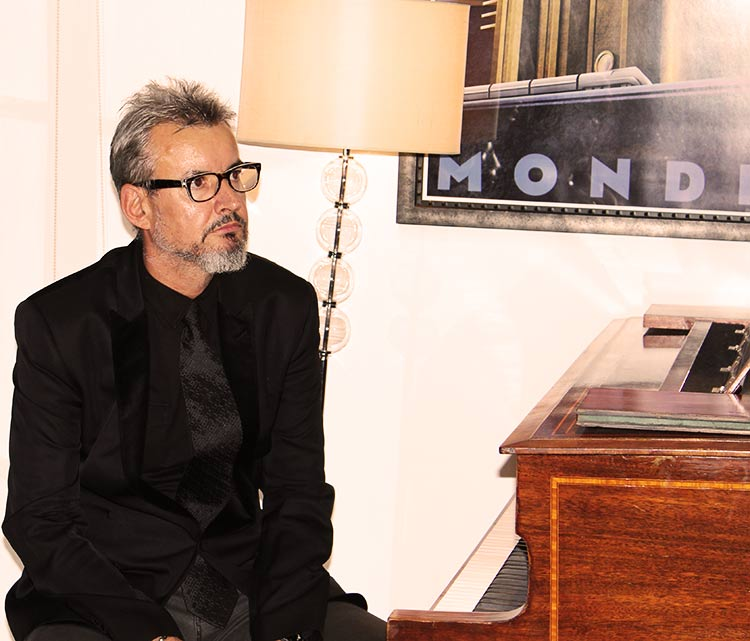 Terry taking piano lessons with the London Piano Institute