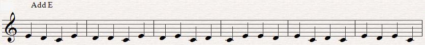 Note reading: C,D,E