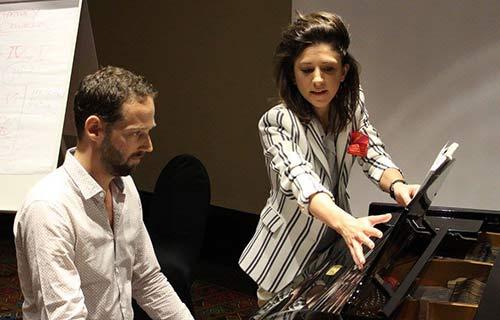 Celine Gaurier-Joubert teaching classical piano in London