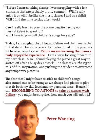piano lesson testimonial