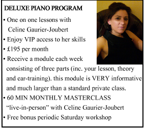 Deluxe busy professional Piano Program