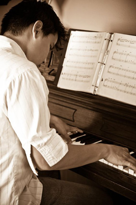 intermediate piano student