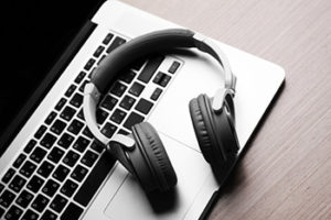 Laptop and headset