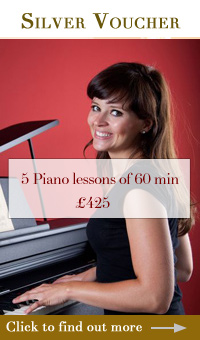 Silver piano gift vouchers