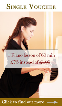 single piano gift vouchers