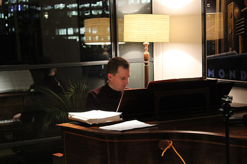 Peter performing at the London Piano Institute