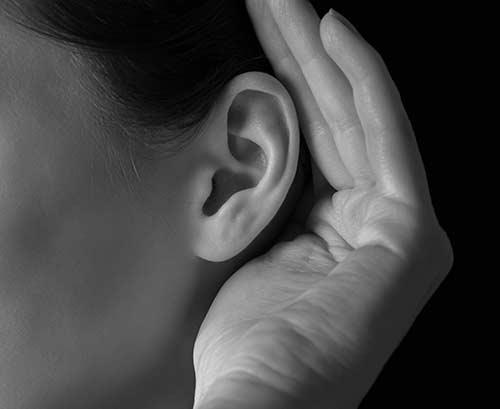 A woman's ear