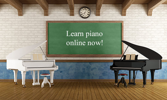 Learn piano online now!