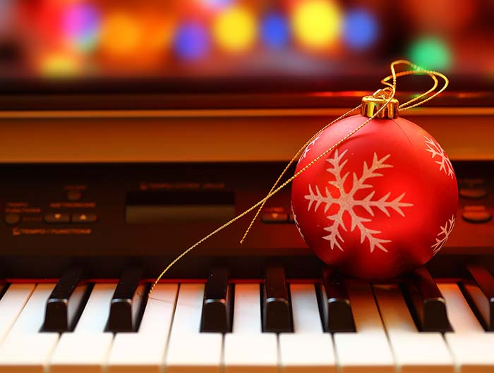 Piano at Christmas time
