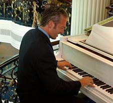 Man playing jazz piano