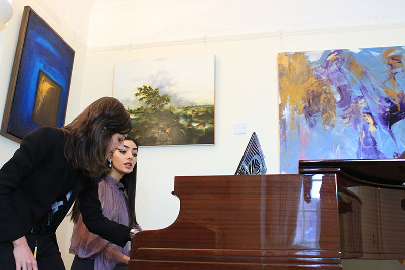 Celine Gaurier-Joubert teaching Yasmine at the London Piano Institute in Mayfair