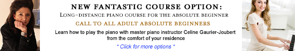 Long distance piano course for adult beginners