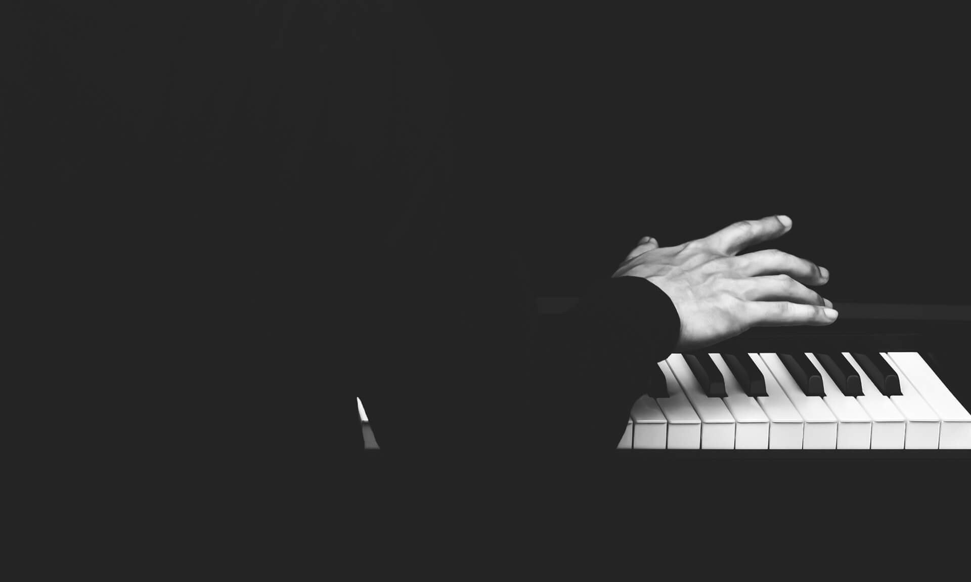 Gentleman playing the piano