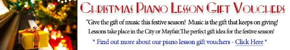 Christmas Piano Lesson Gift Vouchers - The Perfect Gift Idea for Christmas Gifts