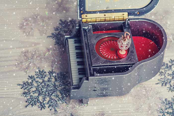 Christmas and the piano