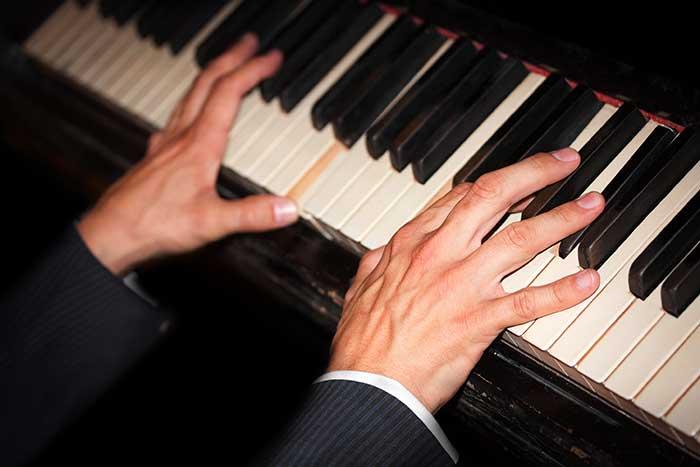 Man playing jazz chords