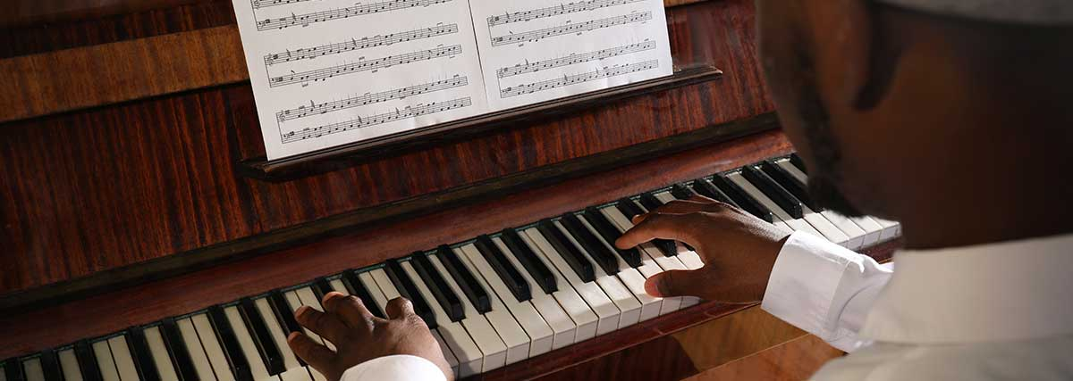 man performing on the piano
